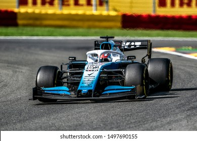George Russell (UK) in the ROKiT Williams Racing FW42 2019 F1 car during the 2019 Formula 1 Johnnie Walker Belgian Grand Prix (29/08/2019 - 01/01/2019) at Circuit de Spa-Francorchamps Belgium