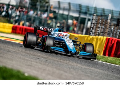 George Russell (UK) in the ROKiT Williams Racing FW42 2019 F1 car during the 2019 Formula 1 Johnnie Walker Belgian Grand Prix (29/08/2019 - 01/01/2019) at Circuit de Spa-Francorchamps Belgium