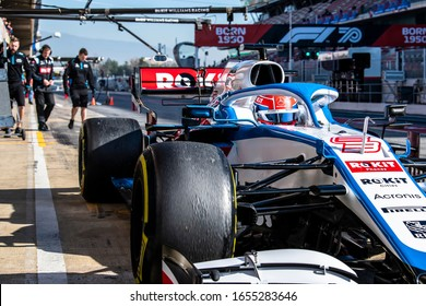 George Russell, United Kingdom competes for ROKiT Williams Racing at the F1 Winter Testing for the 2020 season at the Circuit de Barcelona-Catalunya, Spain