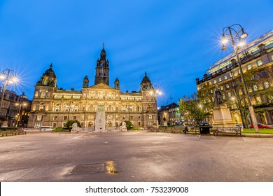 George Square in Glasgow at Night