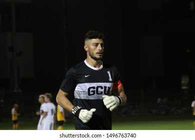 George Tasouris goalkeepers for the Grand Canyon University Lopes at GCU Stadium in Phoenix,Arizona/USA August 30,2019.