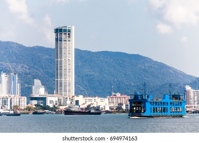 George Town City view from the Ferry, Penang