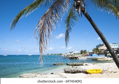 George Town coastline on Grand Cayman island (Cayman Islands).