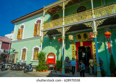 George Town, Malaysia - March 10, 2017: Pinang Peranakan Mansion, is a museum containing antiques and showcasing Peranakans customs, interior design and lifestyles.