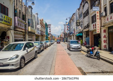 GEORGE TOWN, MALAYSIA - MARCH 20, 2018: View of a street in George Town, Malaysia