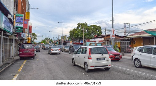 GEORGE TOWN/PENANG ISLAND/MALAYSIA - SEPTEMBER 2 2016: Streets and buildings of George Town. Penang island. Malaysia