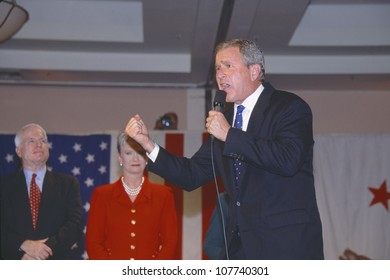 George W. Bush speaking at campaign rally, Burbank, CA in 2000