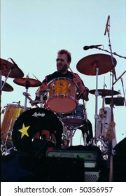GEORGE WA - AUG 1: Singer and drummer Ringo Starr performs on stage at The Gorge Amphitheater  August 1, 1992 in George, Wa.