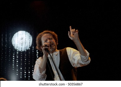 GEORGE, WA - AUG 17: Singer Don Henley of The Eagles performs on stage at The Gorge Amphitheater  August 17, 1991 in George, Wa.