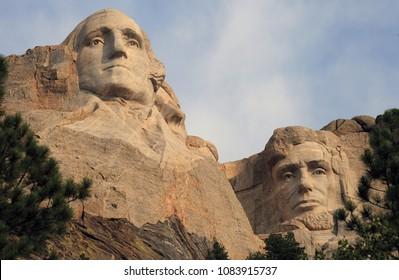 George Washington, Abraham Lincoln - Mount Rushmore National Memorial, USA