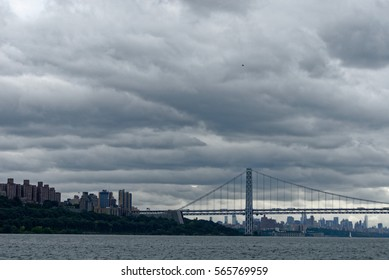 George Washington Bridge and Hudson River