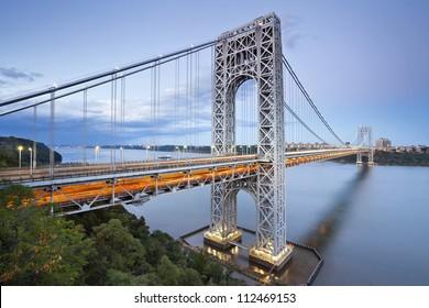 George Washington Bridge, New York. Image of George Washington Bridge at Twilight.