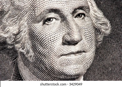 George Washington close up from one dollar bill