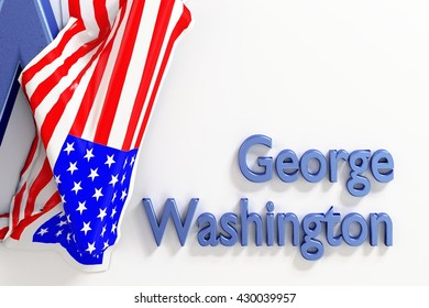 George Washington military and political leader of the Continental Army in the American Revolution. 1th President of the United States 3d Rendering. WASHINGTON, DC - MAY 28, 2016