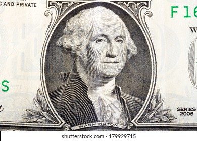 George Washington portrait from one dollars banknote