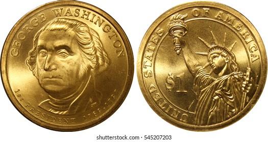 George Washington Presidential Golden Dollar