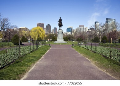 George Washington statue in the Boston Common Public Garden
