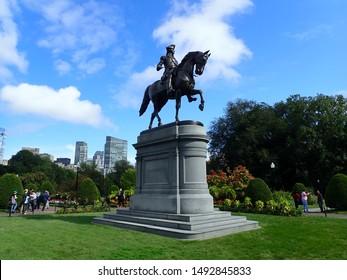 George Washington Statue in Boston Public Garden