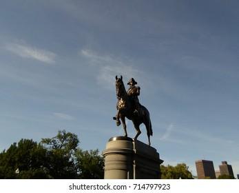 George Washington Statue, Boston Public Garden, Boston, Massachusetts, USA