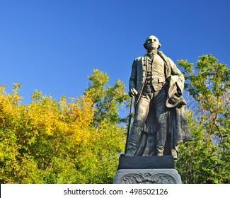 George Washington statue in Budapest