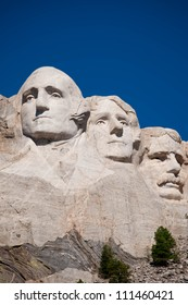 George Washington, Thomas Jefferson, and Theodore Roosevelt at Mt. Rushmore National Memorial