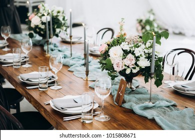 Georgeous wedding table setting