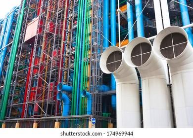Georges Pompidou centre, modern art museum, Paris
