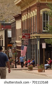 """Georgetown, Colorado/USA- June 6, 2012:19th century silver mining center. Georgetown's location of filming:Every Which Way But Loose,1998 Phantoms,& The Christmas Gift.Nicknamed """"Silver Queen of CO"""""""