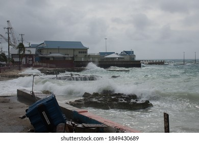 Georgetown in Grand Cayman being hit by tropical storm Eta