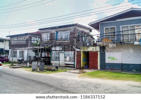 city of wooden houses georgetown guyana