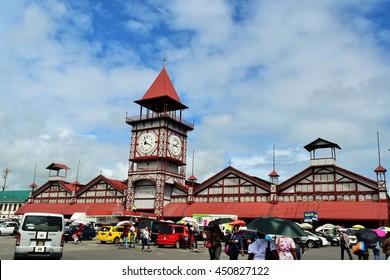 Georgetown Guyana - July 11 2016 - Stabroek market is biggest market at Georgetown, capital of Guyana