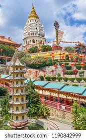 GEORGETOWN, MALAYSIA - FEBRUARY 16, 2018: Kek Lok Si Temple on Penang