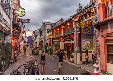 Georgetown, Penang, Malaysia - 2016 The Heritage of traditional Malaysian colonial houses
