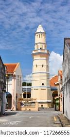 Georgetown, Penang, Malaysia. Circa 2016. Acheh Street Mosque In Georgetown.