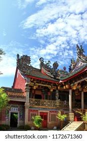 Georgetown, Penang, Malaysia. Circa 2016. The Khoo Kongsi Chinese Clan Temple in Carnarvon Street in Georgetown.