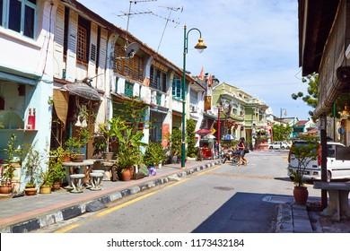 Georgetown, Penang, Malaysia. Circa 2016. Acheh Street in Georgetown.