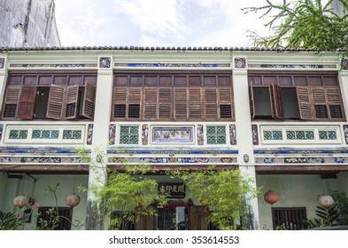 GEORGETOWN PENANG, MALAYSIA - December 13, 2015: Image of beautiful heritage colonial houses in Georgetown, Penang, Malaysia. George Town is the capital and largest city of the state of Penang.