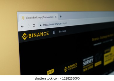 Georgetown, Penang / Malaysia - November 13 2018: Binance trading platform crypto coin currency cryptocurrency online internet website webpage.