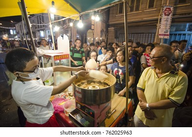 GEORGETOWN, PENANG/MALAYSIA 7 JULY 2016: Hawkers sell Chinese Steamed Meat Buns during Georgetown Heritage Day.
