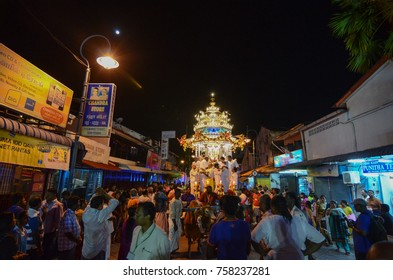 GEORGETOWN, PENANG/MALAYSIA â?? CIRCA JAN 2016: Hindu devotees in Penang seeking blessings, fulfilling vows and offering thanks during Thaipusam Festival.