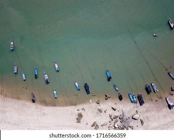 Georgetown, Penang/Malaysia - Feb 28 2020: Traditional Malays fishing village.