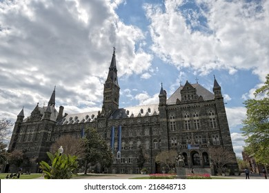 Georgetown University ancient building in Washington DC