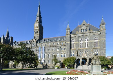 Georgetown University main building in Washington DC - United States