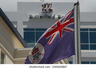 GEORGETOWN,CAYMAN ISLANDS - April 10 2008: Cayman Islands  Flag is hoisted.