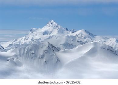 Georgia. Caucasus. Snow mantle of Shdavleri Mount