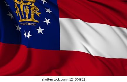 Georgia flag - USA state flags collection no_3