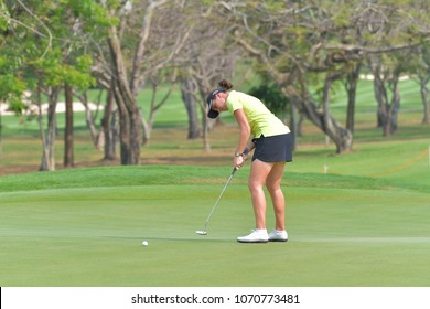 Georgia Hall of England in Honda LPGA Thailand 2018 at Siam Country Club, Old Course on February 25, 2018 in Pattaya Chonburi, Thailand.