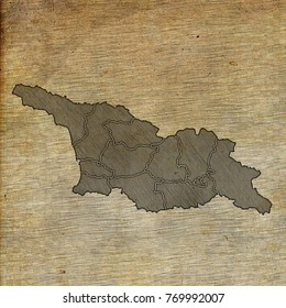 Georgia map old sketch hand drawing on vintage background
