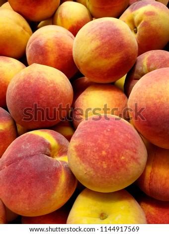 Georgia Peach Peaches Stock Photo (Edit Now) 1144917569