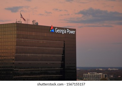 Georgia Power office building exterior view. Georgia Power is a utility company owned by the Southern Company, a NYSE  publicly traded with ticker SO. Atlanta, Georgia, USA - November 19, 2019
